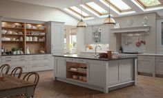 Want to refurbish your kitchen? Find out Prestige Home London dazzling Shaker Kitchen design to decorate your in style. Grey Kitchen Diner, New Kitchen, Kitchen Decor, Kitchen Ideas, Awesome Kitchen, Kitchen Inspiration, Kitchen Planning, French Kitchen, Shaker Style Kitchens