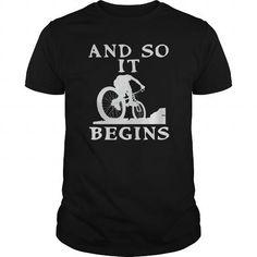 I Love And So It Begins Mountain Biking Climbing T shirts #tee #tshirt #named tshirt #hobbie tshirts # Mountain Climbing