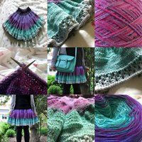 Lavender-to-Mint-Gradient Skirt