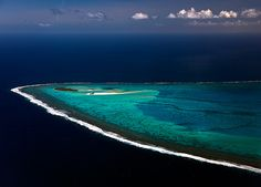 The most beautiful lagoon in the world? That small island in the far corner of Aitutaki lagoon is called 'Maina'.