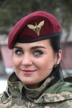 Who's name this Ukraine Army Girl ? Pretty Eyes, Beautiful Eyes, Beautiful Women, Idf Women, Military Women, Mädchen In Uniform, Jersey Uniform, Ukraine Women, Military Girl