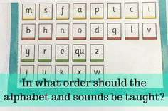 In what order should the alphabet and sounds be taught? – Love2Learn