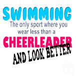 Swimming is better than Cheer Leading! Show them all on a t-shirt or button---or diving bc we actually look prettier Swimming Funny, I Love Swimming, Swimming Diving, Girls Swimming, Swimming Rules, Swimming Posters, Competitive Swimming, Synchronized Swimming, Swimmer Quotes