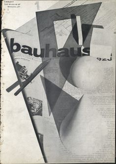 Herbert Bayer was another artist who honed the technique of the photomontage. In Bayer enrolled as a student at the Bauhaus in Weimar, where he studied under Wassily Kandinsky and later under Lazlo Moholy-Nagy. Herbert Bayer, Art Bauhaus, Bauhaus Style, Bauhaus Design, Walter Gropius, Piet Mondrian, Harlem Renaissance, Design Graphique, Art Graphique