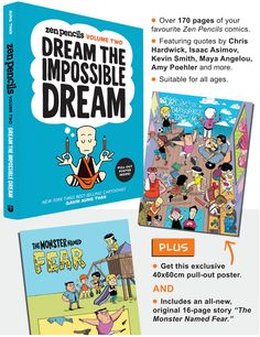 Book Launch: Dream the Impossible Dream - Zen Pencils Volume Two | Boffins Bookshop