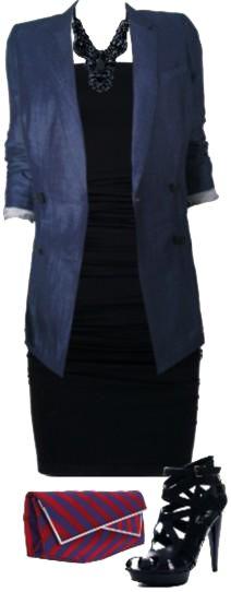 paletó - boyish - O modelo alongado também é conhecido como blazer do namorado e é ótima opção para acompanhar vestidos bem justos como este tomara-que-caia. A sandália altíssima e a carteira em cetim são toques femininos essenciais.