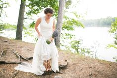 Just a bride and her boots