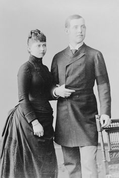 Princess Sophie of Prussia (granddaughter of Queen Victoria) and Constantine, Duke of Sparta, 1888   The Royal Collection