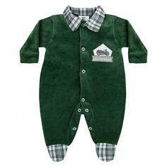 Macacão de Bebê Menino em Plush para o Enxoval :: 764 Kids Loja Online, Roupa bebê e infantil !