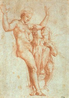 Psyche presenting Venus with water from the Styx, 1517  Raphael