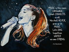 For Manchester. Ariana Grande drawing.