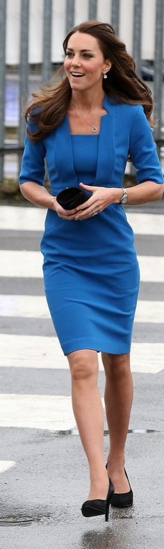Kate Middleton in a Blue LK Bennett Frock