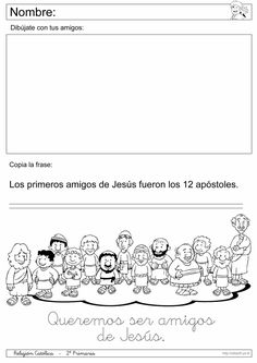 Recursos Religion Católica: Fichas 1º y 2º Primaria