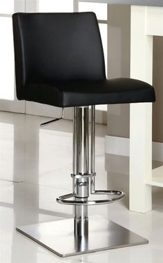 Adjustable Height Swivel Stool with PVC Upholstered Bucket Seat