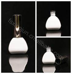 China gold supplier wholesale white fancy shape uv gel empty nail polish bottle for packaging