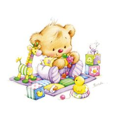 Baby Bear by Marina Fedotova Tatty Teddy, Baby Images, Children Images, Cute Images, Bear Pictures, Cute Pictures, Photo Ours, Dibujos Baby Shower, Art Mignon
