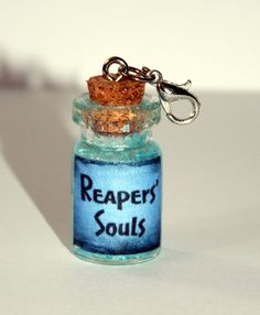 Reapers' Souls in a Bottle Charm Glow in the by SplatterPalette