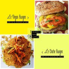 Burger aux lentilles et burger aux pois chiches