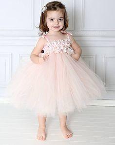 Blush hydrangea tutu dress flower girl by MissSweetPeaBoutique, $80.00