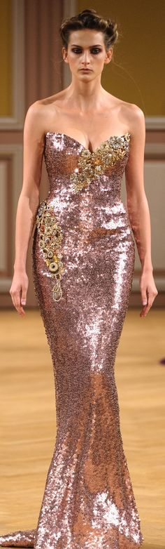 Tony Yaacoub Couture F/W 2013-2014. She has the loveliest curves. It nice to see a real woman!