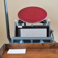 Chandler And Price Letterpress Machine Inked In Grey