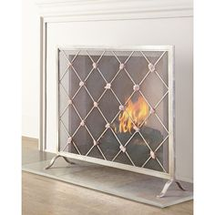 Giallastro Quartz-Accent Fireplace Screen (33.320 RUB) ❤ liked on Polyvore featuring home, home decor, fireplace accessories, distressed home decor and handmade home decor
