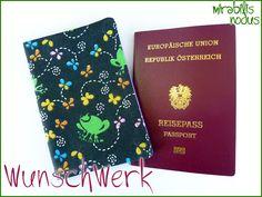 WunschWerk • HÜLLE für ReisePass • EU-Reisepass von HERZlich Willkommen bei *** Mirabilis Nodus *** auf DaWanda.com