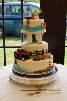 Fun Farming Wedding Cake   Flickr - Photo Sharing!
