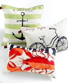 Tommy Hilfiger home collection. |Adding one special pillow to a grouping brings a cohesive look to the collection.