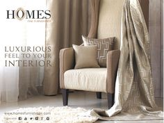#HomesFurnishings lavish designs, work like magic to your #HomeInterior. Explore more on www.homesfurnishings.com #HomeFabrics #Curtains #Upholstery #FineFabric #HomeDecor #Interior #Cushions