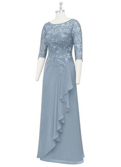 Mother Of Groom Dresses, Mother Of The Bride, Simple Dresses, Elegant Dresses, Mom Dress, Dream Dress, Dress Long, Chiffon Dress, Lace Dress