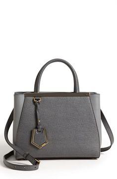Fendi 'Petit 2Jours Elite' Leather Shopper available at #Nordstrom