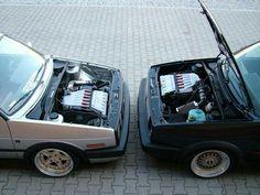 Face to face ! Volkswagen Golf Mk1, Vw Mk1, Golf Betting, Golf Mk2, Vw Cars, Old School, Yin Yang, Jdm, Water