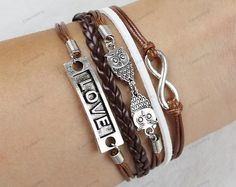 handmade braceletslove bracelets infinite by lifesunshine on Etsy, $5.99