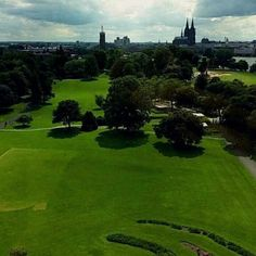 Rhinepark from above #Cologne #Rhinepark #CologneCathedral #Dom...