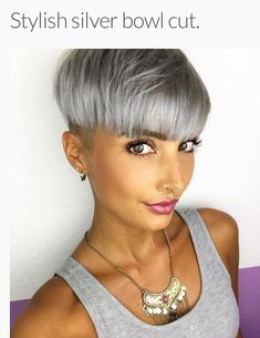 Bowl cut #hairdare #silvercrown