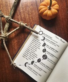 "teacupsandcauldrons: ""The moon phases page of my grimoire ☽◯☾ """