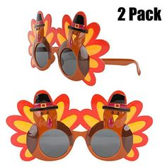 Thanksgiving Turkey Sunglasses Props 2 Pack Cartoon Eyeglasses Autumn Costume Glasses for Thanksgiving Day Party Favo... Thanksgiving Parties, Thanksgiving Turkey, Christmas Glasses, Creative Decor, Gifts For Family, Eyeglasses, Party Favors, Best Gifts, Cartoon