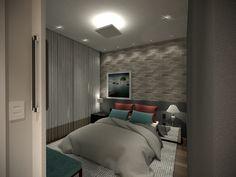 Projeto do escritório Atelier da Reforma - Quarto do casal - Render SketchUp + V_ray