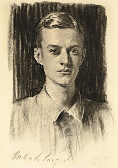 View Portrait of Quincy Adams Shaw, Jr. by John Singer Sargent on artnet. Browse upcoming and past auction lots by John Singer Sargent. Portrait Sketches, Pencil Portrait, Portrait Art, Quincy Adams, Sargent Art, Beaux Arts Paris, Charcoal Portraits, Male Portraits, Fine Art Drawing