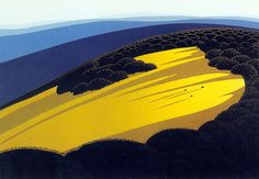eyvind earle, via eight hour day.  this is what it looks like here in July.
