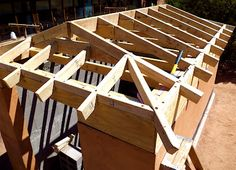 Building A Well House Framing The Hip Roof Log Shed, Roof Truss Design, Framing Construction, Diy Storage Shed, Barn Door Designs, Roof Trusses, Roof Architecture, Hip Roof, A Frame House