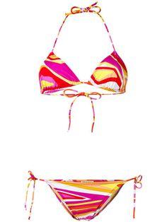 EMILIO PUCCI Patterned Two-Piece Bikini. #emiliopucci #cloth #bikini