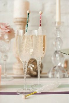 Rock Candy stirrers....Combining two things I love...Champagne and Rock Candy!  Might be fun with a vodka drink too...