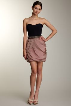 HauteLook  Blowout Bianca Nero Strapless Chiffon Bubble Dress