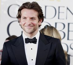 Silver Linings Playbook actor Bradley Cooper at the Golden Globes. #celebrities #movies #tux