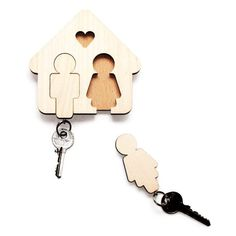 His and Her Key Holders by Jette Schieb
