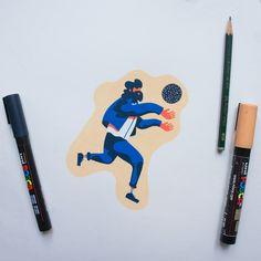 Sketchbook on Behance Posca Marker, Marker Art, Character Illustration, Illustration Art, Posca Art, Arte Sketchbook, Drawing Skills, Pen Art, Copics