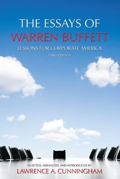 "Joel picked up ""The Essays of Warren Buffett: Lessons for Corporate America, Third Edition"" - Kindle edition by Lawrence A. Cunningham, Warren E. Buffett,"