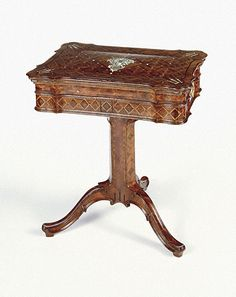 Reading and Writing Stand. Abraham Roentgen   German, Neuwied, about 1760   Oak veneered with palisander, alder, rosewood, ivory, and mother-of-pearl
